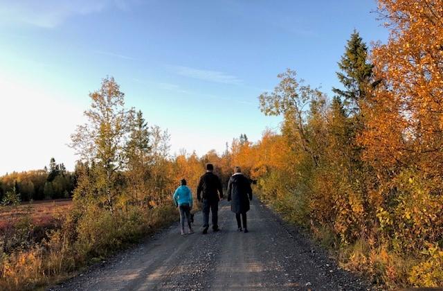 Familj promenad